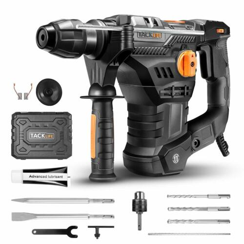 TACKLIFE 1-1/4 Inch SDS-Plus 12.5 Amp Rotary Hammer Drill, 7Joules Impact Energy