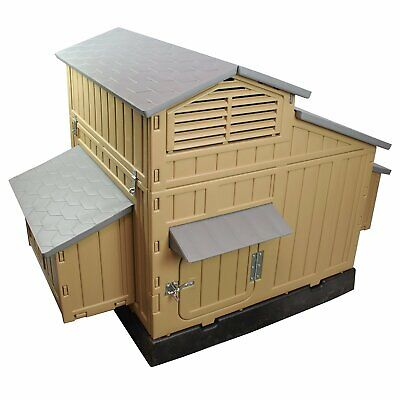 Formex Large Chicken Coop Backyard Hen House 4-6 Large 6-12 Bantams