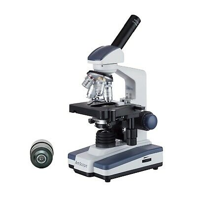 Amscope 40x-2500x Led Monocular Darkfield Compound Microscope With Double-layer