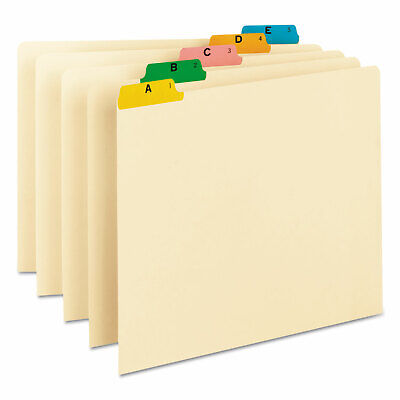 Smead Recycled Top Tab File Guides Alpha 15 Tab Manila Letter 25set 50180