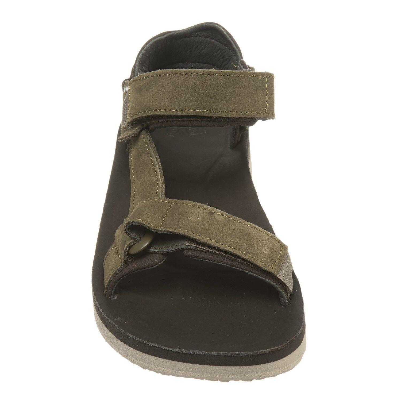 New Men`s Teva Original Universal Premier Leather Sandals 1015928 1