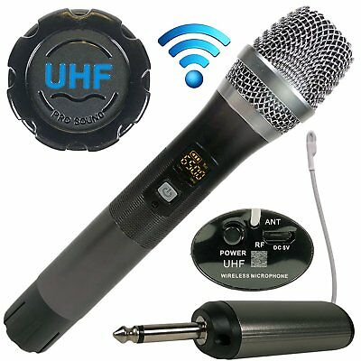 UHF Wireless/Wired Bluetooth Karaoke Microphone Speaker Adjustable Stereo Mic