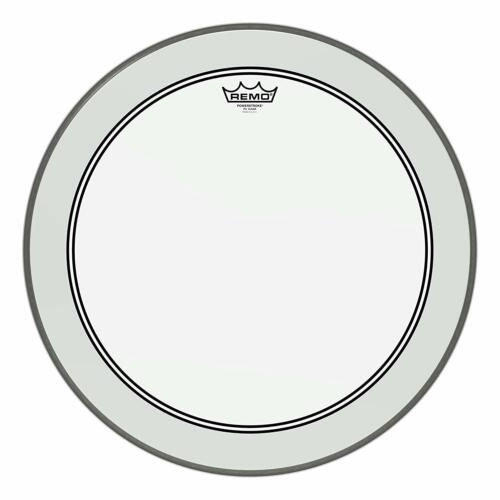 """Remo P31322C2 Powerstroke 3 Clear 22"""" Bass Batter Drumhead w/ White Falam Patch"""
