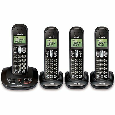 VTech 4 Cordless Phone Answering System w/ Caller Id & Call Waiting | CS6199-4