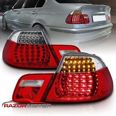 [FULL LED]2000 2001 2002 2003 BMW E46 325Ci/330Ci/M3 Coupe Red Clear Tail Lights
