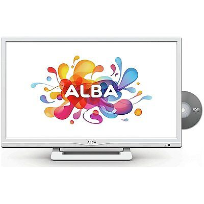 """ALBA 24"""" Inch HD Ready Digital Freeview LED TV DVD Combi Combo USB HDMI - WHITE"""