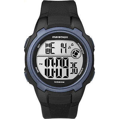 Timex T5K820, Men's Marathon Resin Watch, Indiglo, Alarm, Stopwatch, T5K820M6
