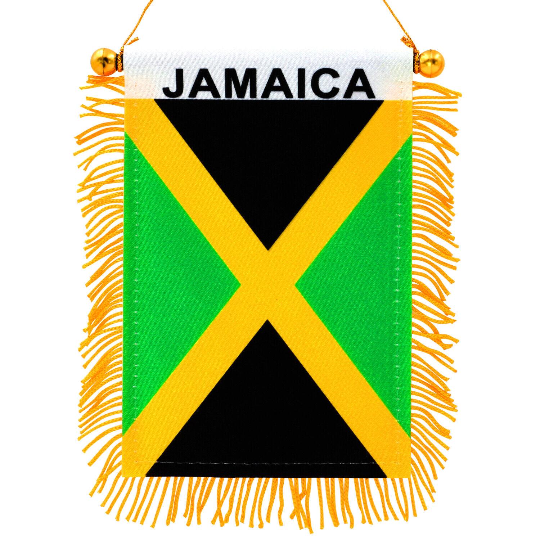 "Anley 4"" X 6"" Jamaica Fringy Window Hanging Flag Mini Flag F"