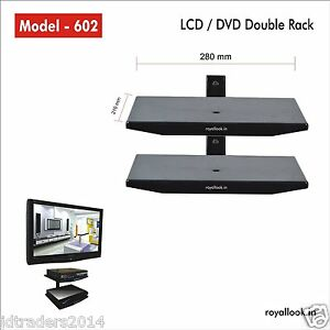 Royal Look Set Top Box Dvd Double Rack Heavy Duty Wall