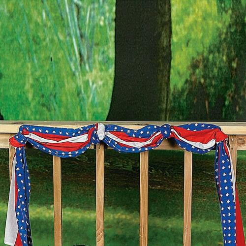 20 Feet Patriotic Bunting  American Party Deck Porch Balcony Decoration
