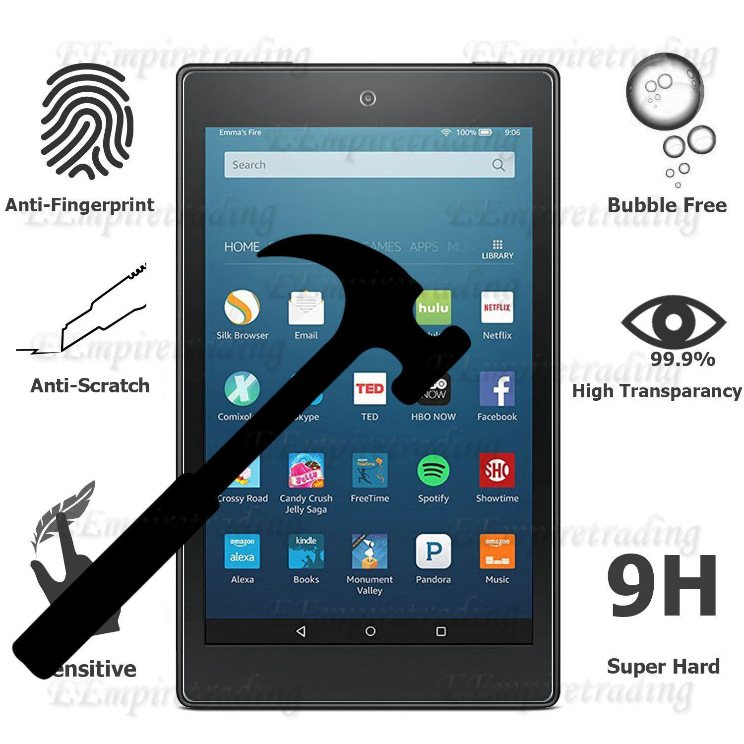 Tempered Glass Screen Protector For Amazon/Galaxy/iPad/LG/Le