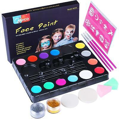 Child Face Paint For Halloween (Face Paint Kit, Professional Quality Face & Body Painting for Kids Halloween)