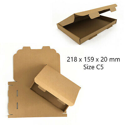 50 x C5 BROWN ROYAL MAIL LARGE LETTER PIP CARDBOARD POSTAL BOXES *HIGH QUALITY*