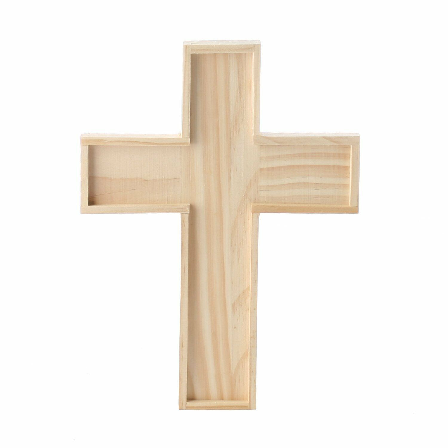 Unfinished Wooden Crosses for Painting and Crafting | 6 Crosses Crafting Pieces
