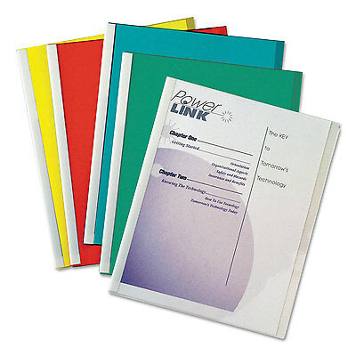C-Line Report Covers with Binding Bars Vinyl Assorted 8 1/2