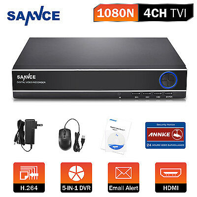 Sannce 4Channel 5in1 DVR AHD IP TVI CVI HD for Surveillance Camera System Email