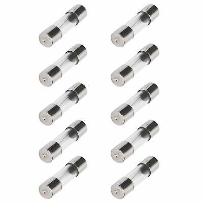 10pcs 15a 5x20mm Slow Blow Glass Tube Fuse 15 Amp