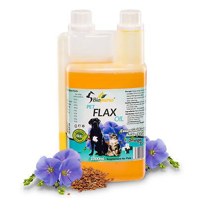 Puro Natural Mascotas Lino de La Semilla Aceite para Perros y Gatos...