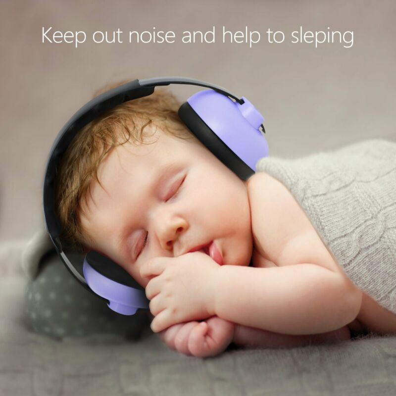 Baby Child Hearing Protection Safety Ear Muff Noise Cancelling Headphone Purple