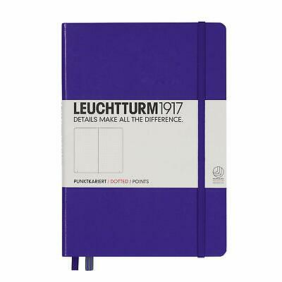 Leuchtturm1917 Medium A5 Dotted Hardcover Notebook Purple 249 Numbered Pages