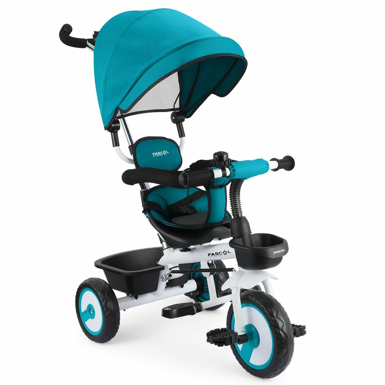 Fascol Baby Dreirad 4 in 1 von 12 Monaten bis 5 Jahren