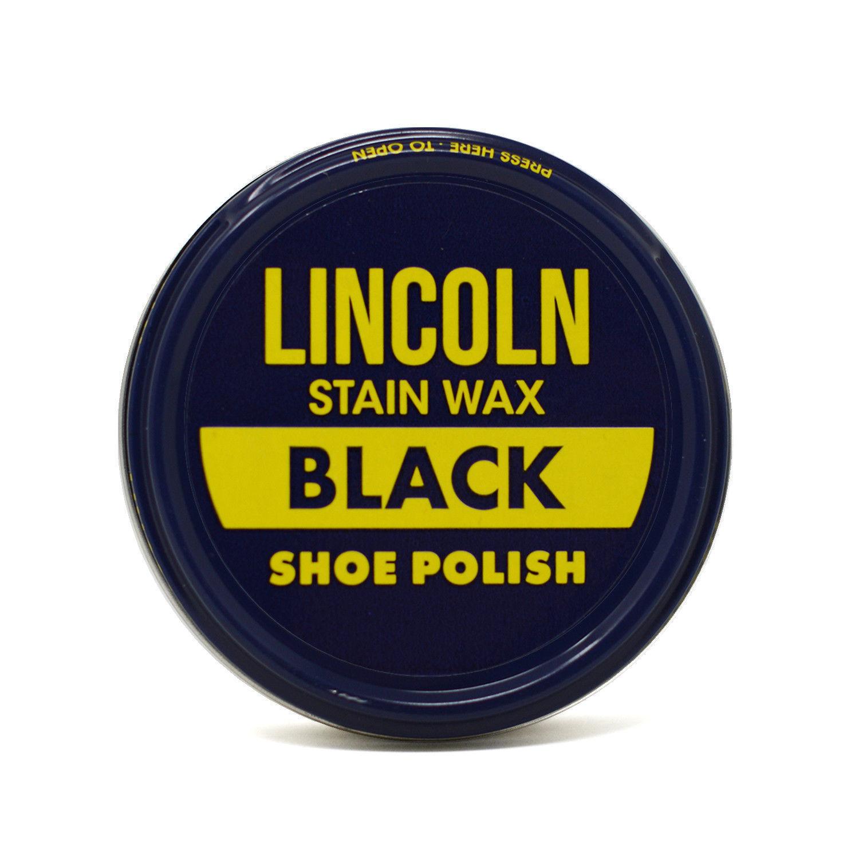 Lincoln Stain Wax Shoe Polish 3oz BLACK Clothing & Shoe Care