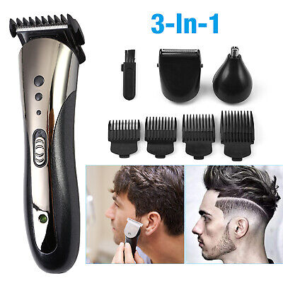 NEW Men Pro Hair Clippers Beard Trimmer Electric Cordless Shaver Razor Haircut