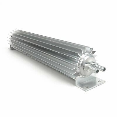 "Universal 15"" Aluminum Dual Pass Finned Transmission Cooler trans street rat rod"