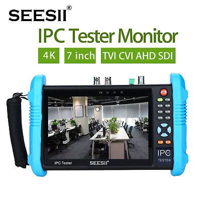 7 4k 1080p Ipc Camera Tester Monitor Tvi Cvi Ahd Sdi Cvbs Wifi Analog Portable