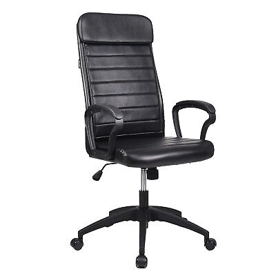 High Back Pu Leather Executive Office Chair Ergonomic Computer Desk Chair Black