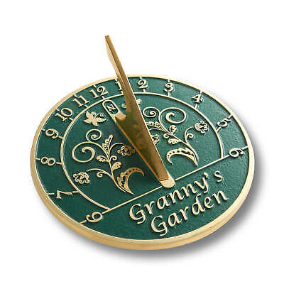 The Metal Foundry Granny's Garden Sundial Gift Handmade In England In Brass