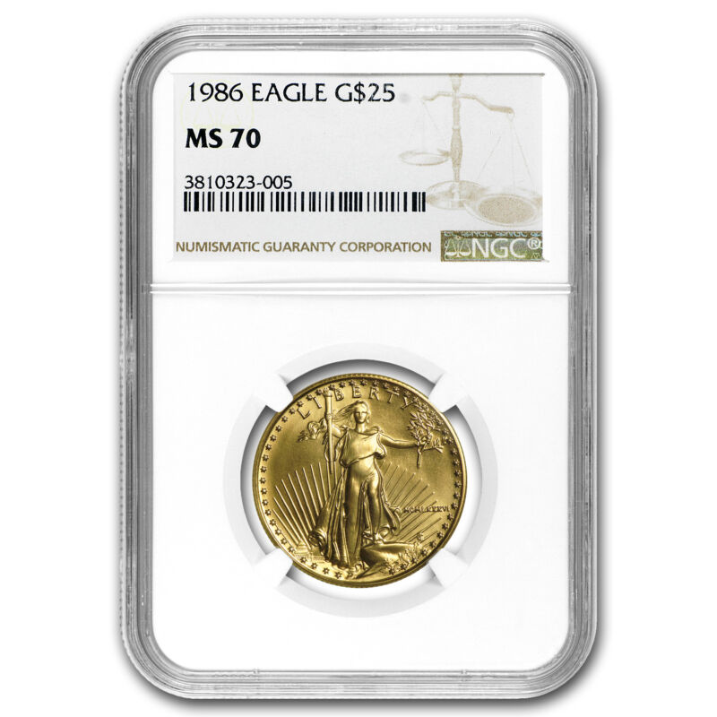 1986 1/2 Oz Gold American Eagle Ms-70 Ngc (registry Set) - Sku#56760