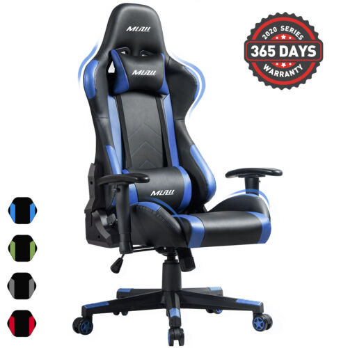 Gaming Chair Office Racing Style 180° Recliner Computer Seat Swivel Desk Chair