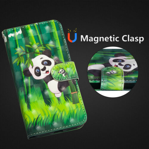 3d painting flip wallet card pu strap