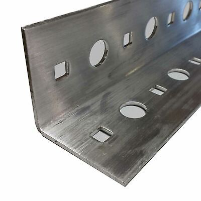 Perforated Aluminum Angle 2 X 2 X .100 X 24 Inches