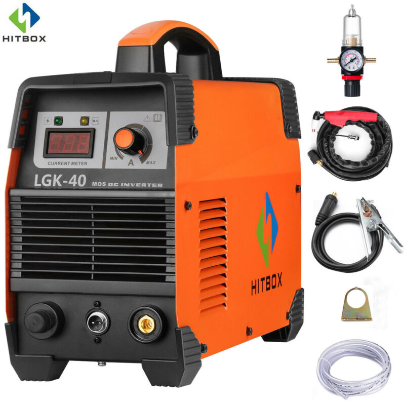 HITBOX Plasma Cutter CUT40 220V 40AMP DC Inverter Air Plasma Cutting Machine