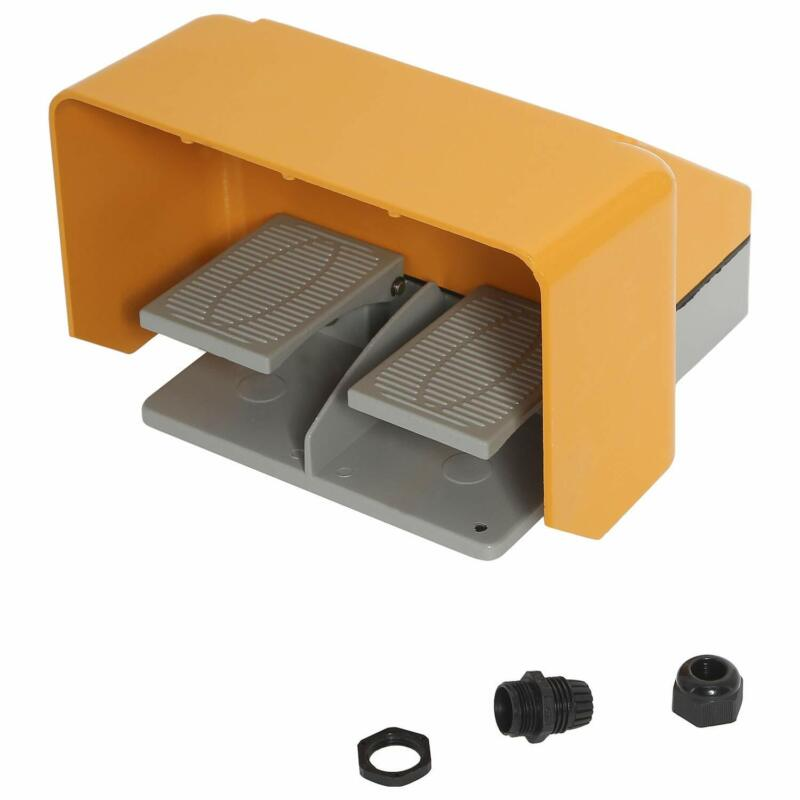 NovelBee 220V 5A Heavy Duty Double Pedal Foot Control Switch for Bending Machine