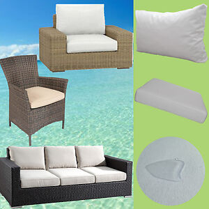 auflage rattan lounge gartenm bel sessel stuhl bank polster r ckenkissen 50x50cm. Black Bedroom Furniture Sets. Home Design Ideas