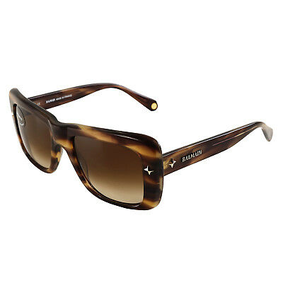 Authentic Balmain Brown Horn Category 3 Sunglasses 54-20-140 BL 2011