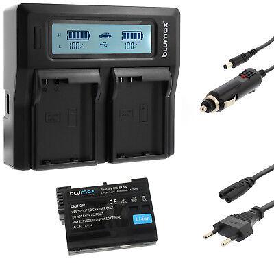 Akku für Nikon EN-EL15 + Dual Ladegerät Charger für Nikon EN-EL15 | 65114 |90341