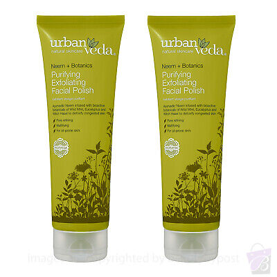 Urban Veda PURIFYING  EXFOLIATING FACIAL POLISH for oily skin PACK of 2