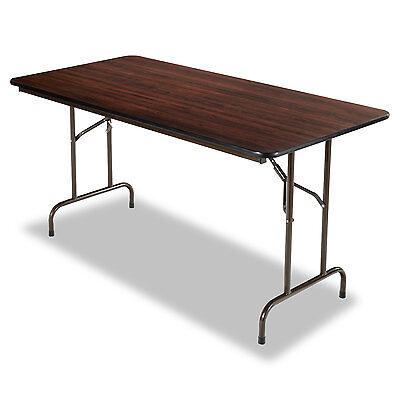 Folding Table  Rectangular  60w x 30d x 29h  Walnut