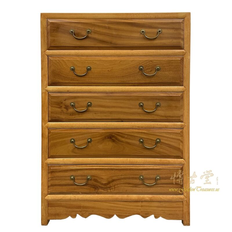 Vintage Chinese Camphor Wood Chest of Drawers