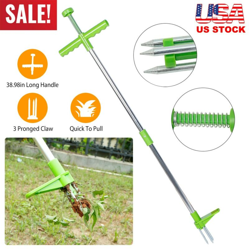 39in Weed Puller Weeder Twister Twist Pull Garden Lawn Root Killer Remover Tool