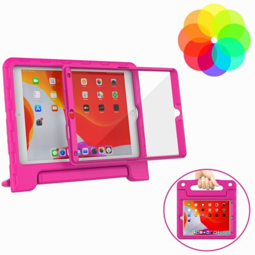 "For Apple iPad 8th & 7th Gen 10.2"" 2020/2019 Kids Case Built-in Screen Protector"
