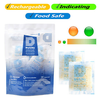 10 Gram X 100 Pk Dry Dry Food Grade Orange Indicating Silica Gel Packets