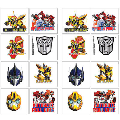 Transformers Temporary Tattoos Birthday Decorations Party Favors Supplies ~ 16ct