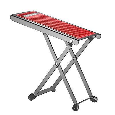 Neewer NW001 Red Adjustable Guitar Foot Stool Sturdy Solid Iron Pedal Rest
