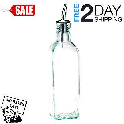 Tablecraft Kitchen Cooking Salad Olive Oil Vinegar Glass Dispenser Bottle 16 Oz