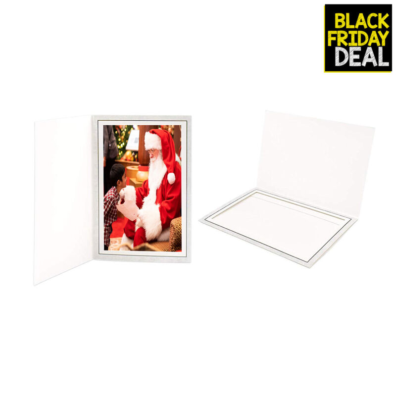Cardboard Photo Folder for a 4x6 Photo Grey Stock Pack of 100 Frames
